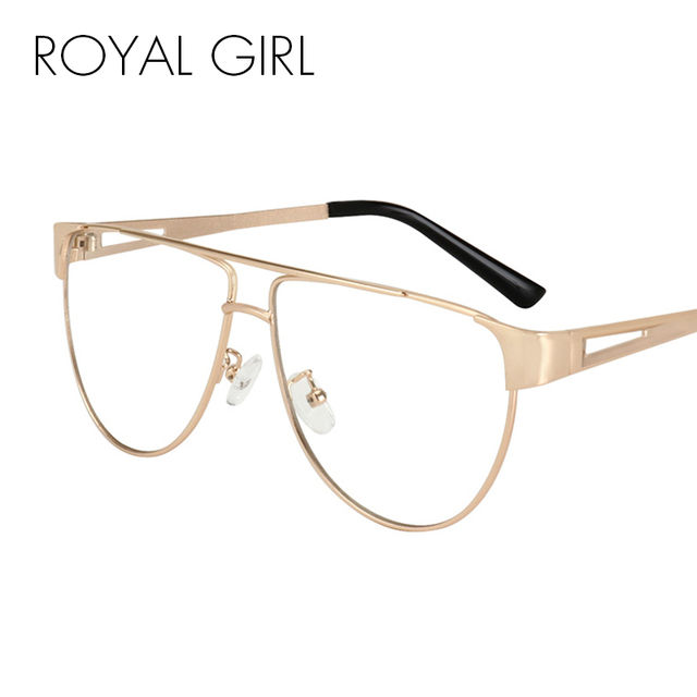 b850edecd5 ROYAL GIRL NEW Eyeglasses Frames Optical Women Metal Spectacles Glasses  Clear lens Eyeware Black Silver Gold