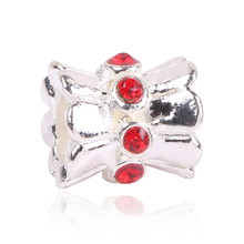 Ranqin Silver Color Skirts Silver Bead Charms European  Bead Fit Women Pandora Bracelet & Bangle DIY Jewelry