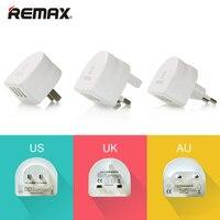 Orijinal Remax 3 USB Portu 5 V/2.1A Cep Telefonu Şarj Cihazı Taşınabilir seyahat Güç Adaptörü ABD/İNGILTERE/AU Tak için iPhone 7 için Artı iPad