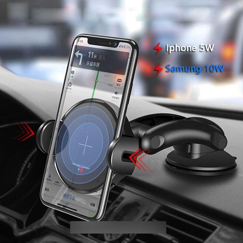 Support pour téléphone intelligent de charge infrarouge sans fil pour Iphone pour évent Samsung/ventouse accessoires de voiture support de navigateur