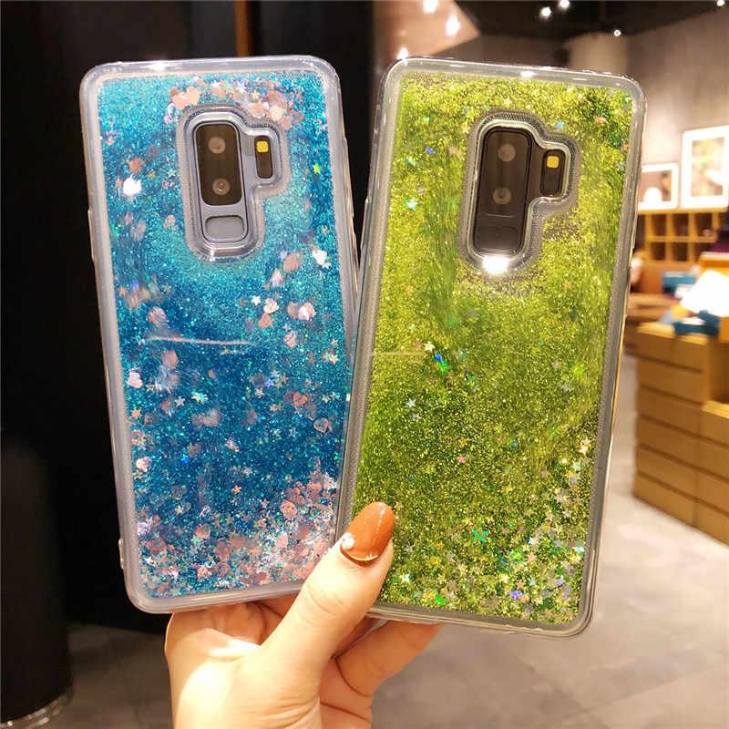Năng Động Chất Lỏng QuickSand TPU Cho Samsung Galaxy S9 Plus S8 S7 Edge S10 Note 10 9 8 5 4 3 J2 Thủ J3 J5 J7 2016 Ốp Lưng Điện Thoại
