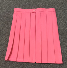 Rose Red color Dark pink color high waist pleated skirts  Cosplay school uniform skirt недорого