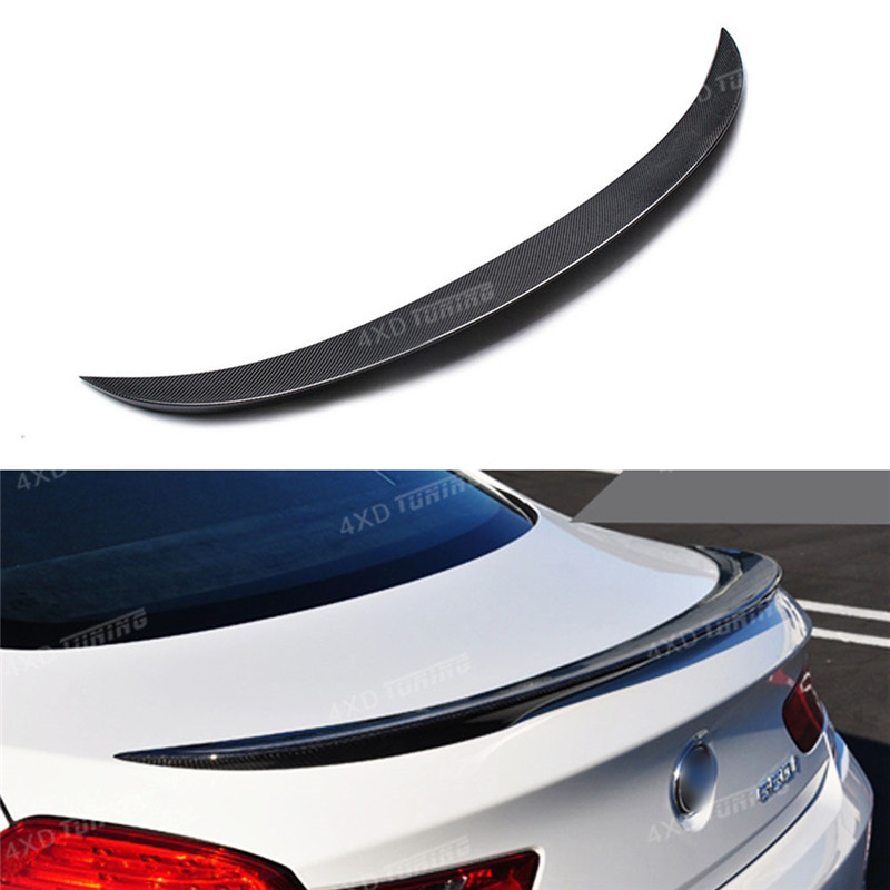 For BMW 6 Series F06 Carbon Spoiler Performance Style Gran Coupe F06 Carbon Fiber Rear Spoiler Rear Trunk Wing 4-doors 2014 - UP for audi a5 carbon rear spoiler s5 style carbon fiber rear spoiler rear trunk wing coupe 2 doors car 2013 2014 2015 2016 2017 on