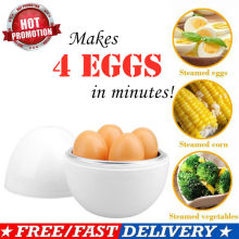 Microwave 4 Egg Boiler Steamer Poacher Boiler Cooker Kitchen Tools safely Egg Tools Egg Poachers