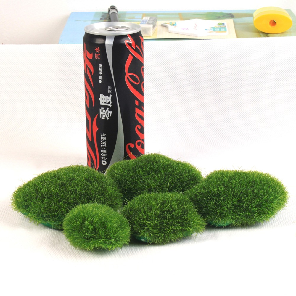 Hot sale Artificial Fake Faux Emulation Moss Fuzzy Stone Ball Rock ...