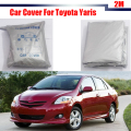 Full Car Cover Sun Snow Rain Resistant Protector Cover UV Anti For Toyota Yaris Free Shipping !