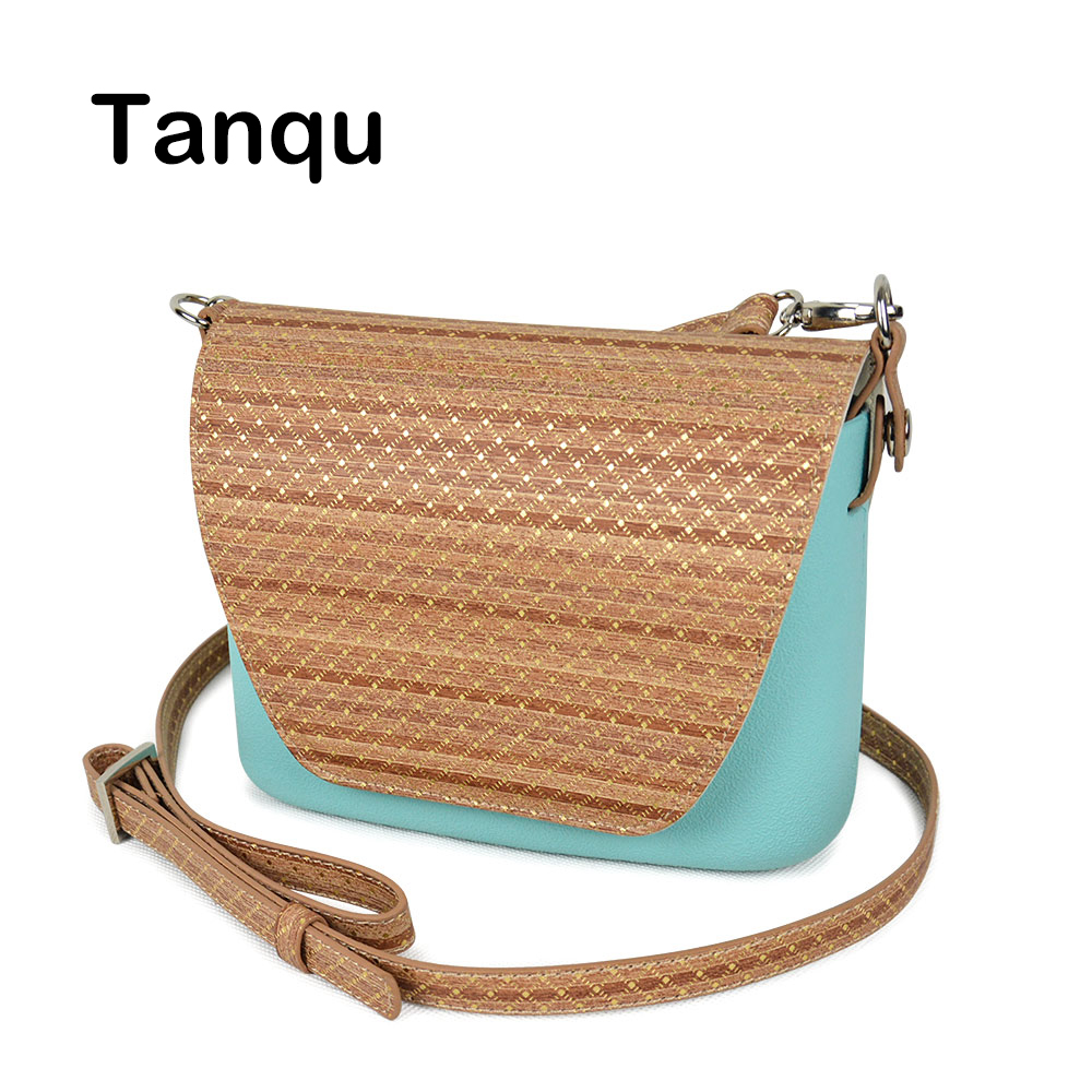 TANQU Round Wood Grain Opocket Style Small EVA Pocket Plus Leather Flap Long Adjustable Belt with Clip Closure Attachment OBag ef adjustable bellows focusing attachment black