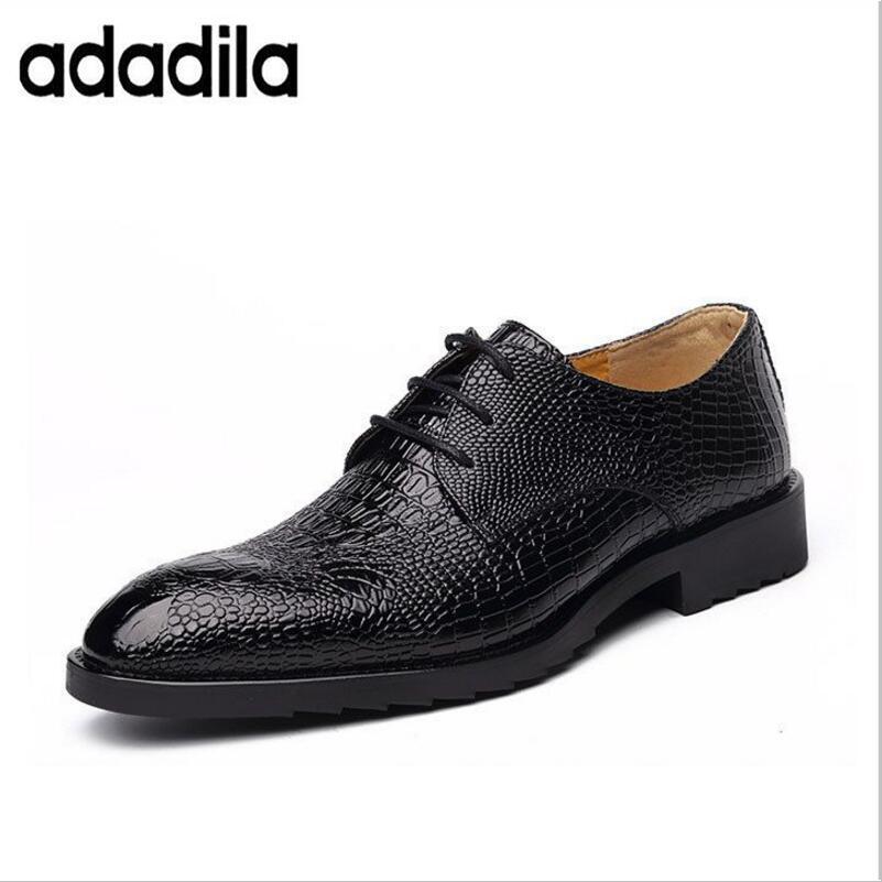 Black Appartements Homme Vache Cool Véritable Casual Chaussures D'affaires En Respirant Cuir Européenne Adultes 2018 brown Nouveau Crocodile Robe De wnFCaPxTq