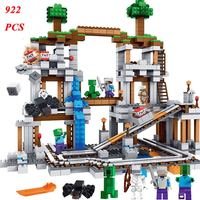 Minecrafted The Mine Mountain 922Pcs Compatible Legoings City Minecrafte Building Blocks Sets Assembled Toys For Children Gifts