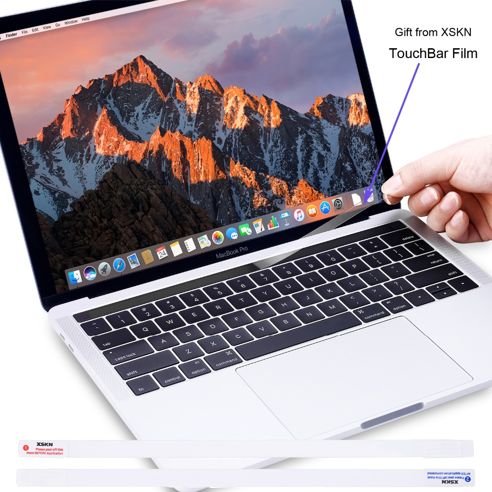 XSKN Final Cut Pro X Keyboard Cover For Touch Bar Macbook 13 15, For Mac A1706 A1707 A1989 A1990, Free Gift Touchbar Sticker