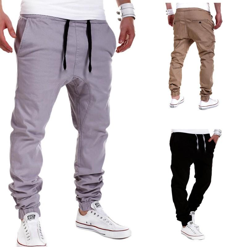 New Men Haren Sweat Pants for Men 2016 Harem Pants Men Pocket Drawstring For Training Men Hip Hop Loose Solid Trianing Pants  (4)