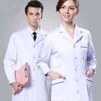 Biały Płaszcz Z Długim Rękawem Sukienka Sukienka Kobiet Lekarz Lekarz Biały Płaszcz Krótki Rękaw Mężczyzna Schudnięcia Kostium Pielęgniarki Ubrania Jednolite