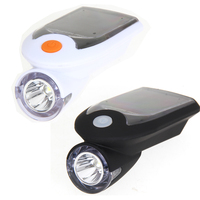 Solar Energy Rechargeable USB Bike Lights Flashing Front Head Flashlight Cycling Bicycle LED Warning Lamp Sport
