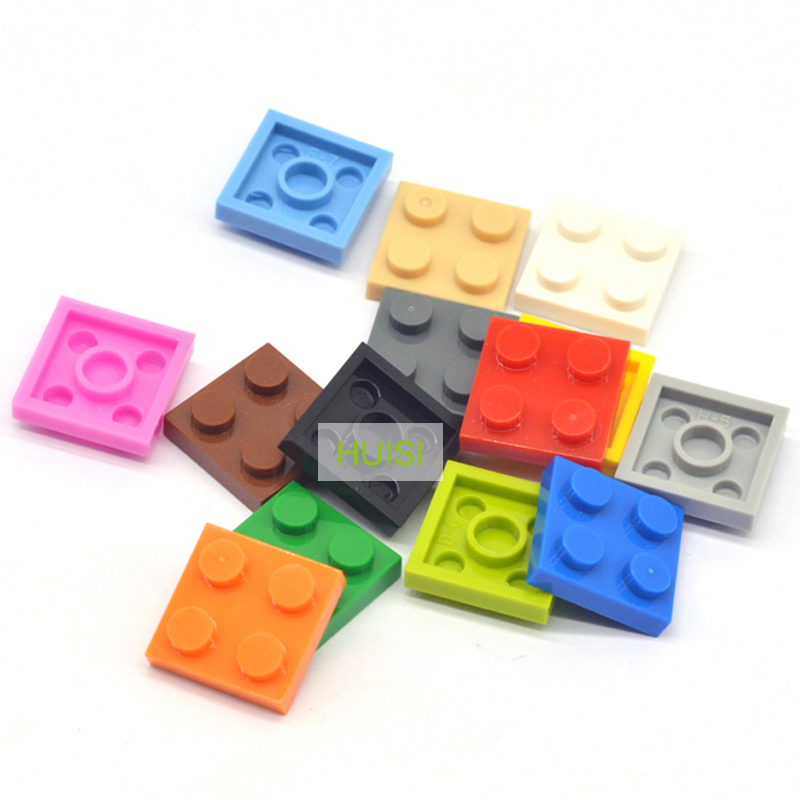 LEGO Tan Plate 2x2 Lot of 100 Parts Pieces 3022