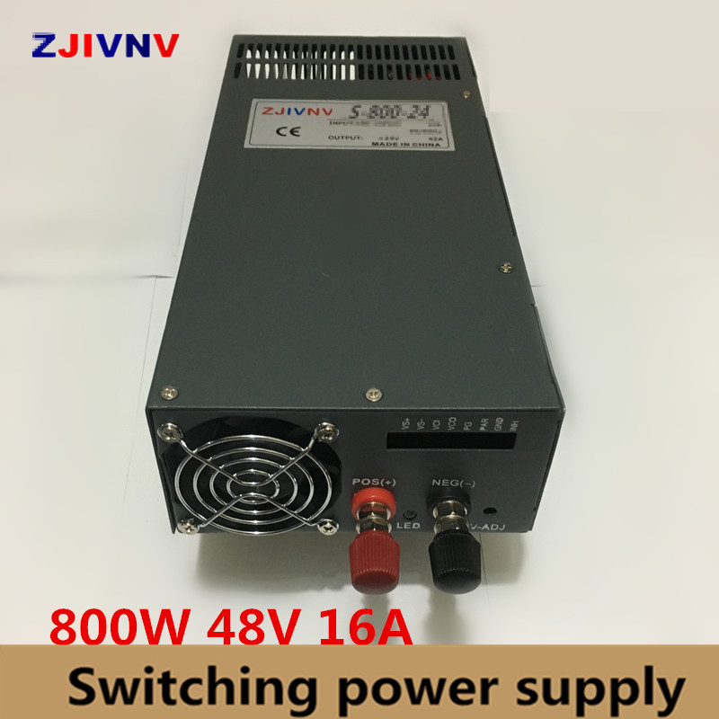 AC to DC 48V 800W High Quality Voltage Converter Switching Power Supply 48W 16A input 110v or 220vac smps 48vdc [vk] sjb920 sjb920 16a 16a inverter input special power filter voltage regulators
