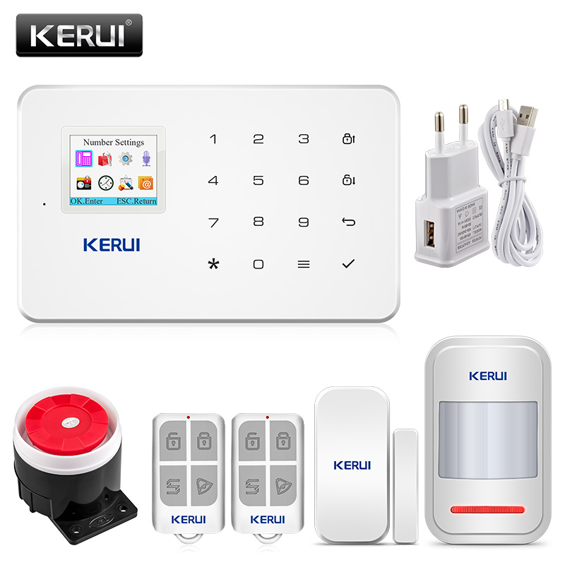 KERUI G18 Wireless Home GSM Security Alarm System DIY Kit APP Control With Auto Dial Motion Detector Sensor Burglar Alarm System-in Alarm System Kits from Security & Protection on Aliexpress.com | Alibaba Group