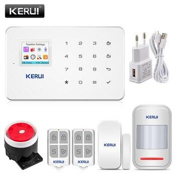 Kerui G18 Rumah Nirkabel GSM Alarm Keamanan Sistem DIY Kit APP Kontrol dengan Auto Dial Motion Detector Sensor Alarm sistem