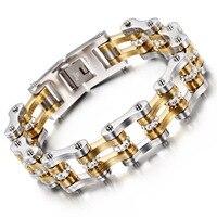 New Smooth titanium steel bracelet fashion jewelry men bracelet stainless steel gold bracelet