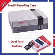 In Stock! 52Pi Retroflag NesPi Case Mini NES CASE with Dual Double Fans Cooling heatsink for RetroPie Raspberry Pi 3 / 2 / B+