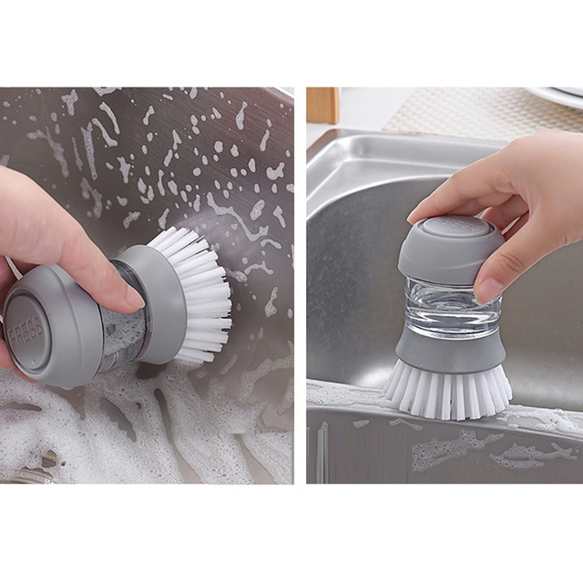Cleaning Brushes Dish washing tool Soap Dispenser Refillable pans cups bread Bowl scrubber kitchen goods accessories gadgets 4