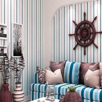 Free Shipping Fashion color stripes environmental protection Wallpaper boys girls bedroom living room restaurant wallpaper