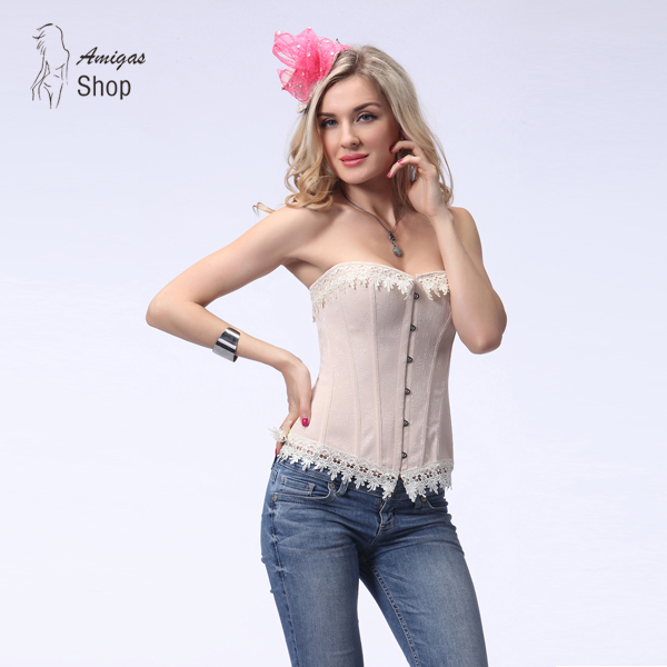 79b156cde10 Sexy Corsets and Bustiers Lace Up Waist Slimming Trainer Hot Body Shaper  Steampunk Overbust Female Fajas Gothic Corselet 8031-in Bustiers   Corsets  from ...