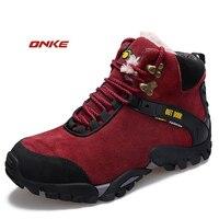 ONKE Для Мужчин's Для женщин Зимняя обувь Супер тепло подушки кроссовки амортизацию Кроссовки Спортивная тренер человек спортивная обувь 35 44