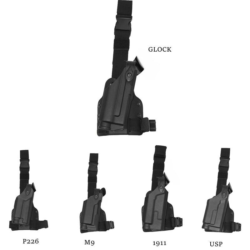 Safariland Adjustable Tactical holster Leg Platform Military Army Combat Leg Holster For GL 17 1911Beretta M92 M9 P226 USP military tactical drop leg thigh holster lv3 light bearing holster for sig sauer p226 p228 p229
