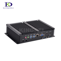Industrial Mini PC Core i5 4200U fanless industrial PC with HDMI 2 COM USB 3.0 VGA WIFI,Windows7/8/10 Linux PC NC320