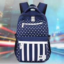 Feminine Backpack Dot striped School Teenage Backpacks for Teen Girls Youth Printing Backpack Sac A Dos