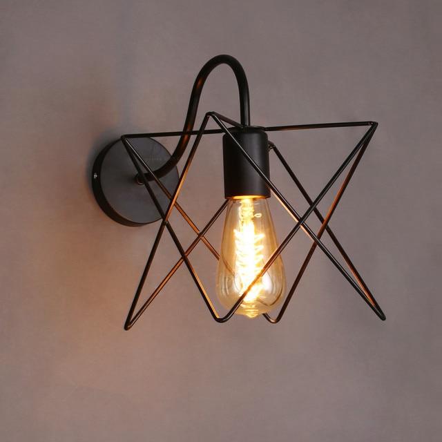 Aliexpress.com : Buy Vintage Iron Cage Wall Lamp Retro Loft ...