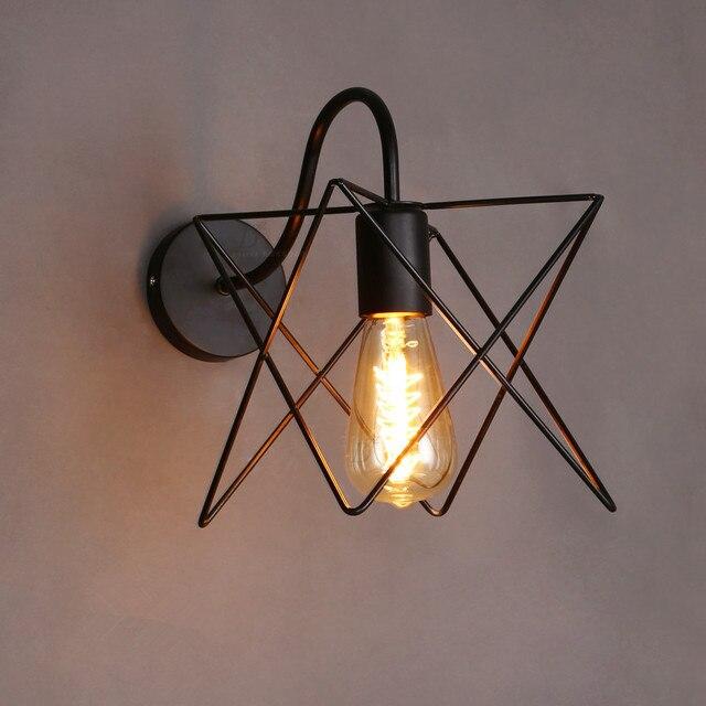 Vintage Mur Lampe Cage De Fer Appliques Murales Chambre Salle De ...