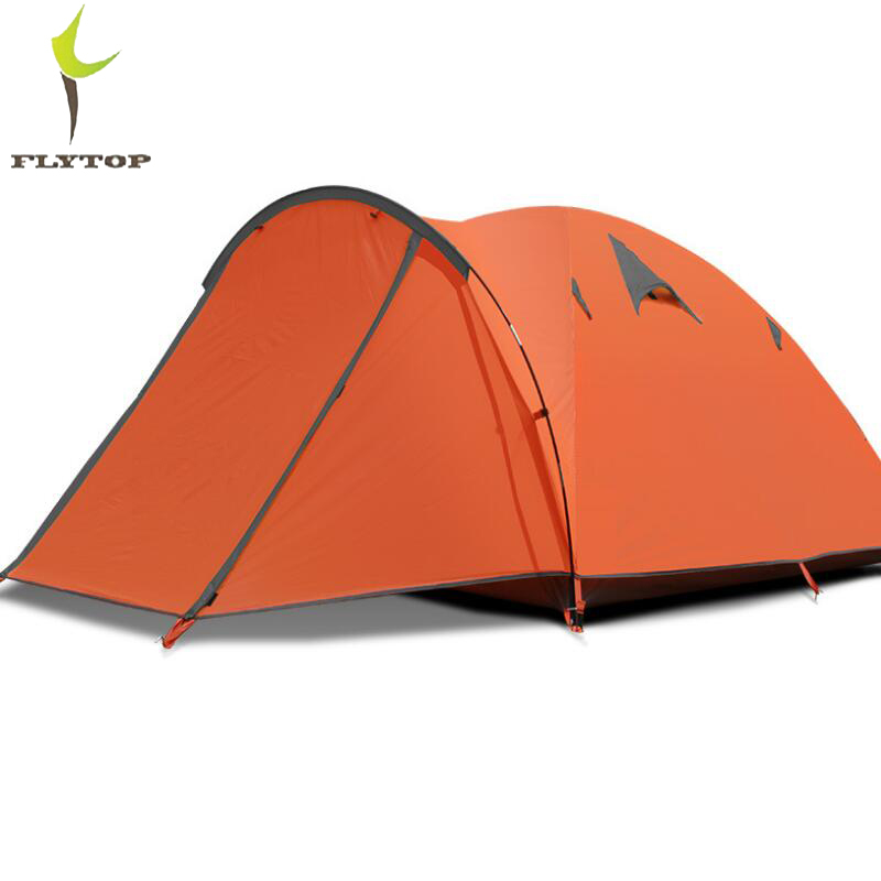 FLYTOP Ultralight Waterproof Tourist Travel Tent 3 - 4 person Outdoor Camping Tent Family Beach Double Layer Fishing Tents China outdoor camping tent tourist big two bedrooms 4 season 4 person tents travel large family camping tent