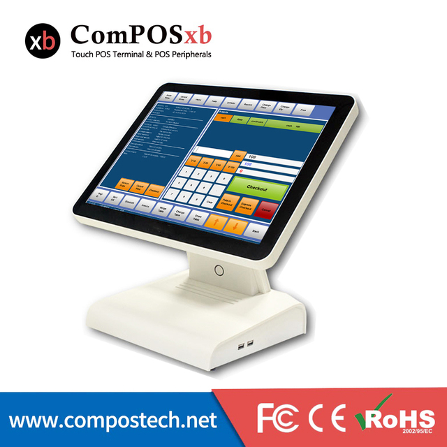 Free Shipping 15 Inch Touch Screen Capacitive Cashier Machine POS Terminal All In One Pos Pc Desktop Computer