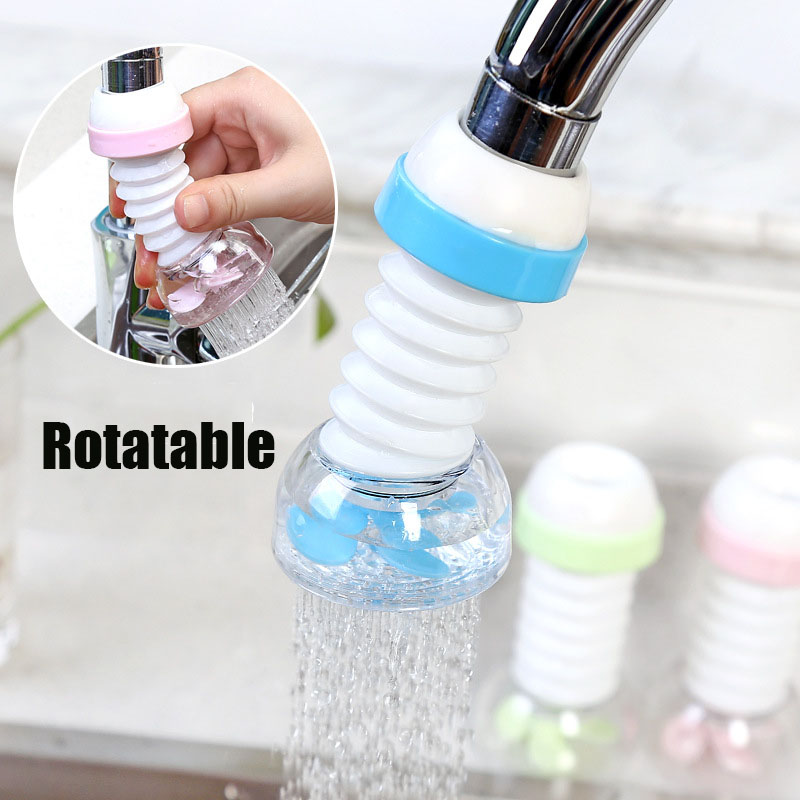 Rotatable Kitchen Faucet Shower 360 Rotate Water  Save Water Splash-Proof Water Outlet Shower Head Water Filter Sprink