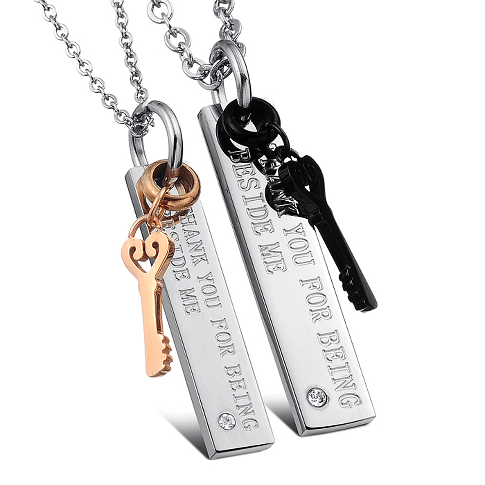 4bd192b83786b US $3.69 |FATE LOVE Brand Couple necklace & pendants key for men women  stainless steel chain fashion statement personalized jewelry-in Pendant ...
