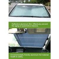 Автомобильная раздвижная занавеска с защитой от ультрафиолета, передний козырек на лобовое стекло, авто тени, крышка блока, Стайлинг автомо...