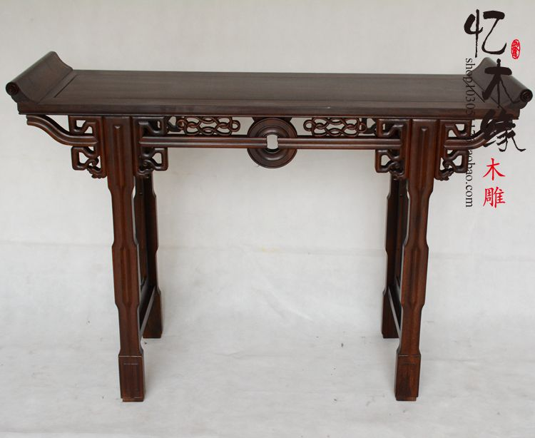 Rosewood table a few Chinese antique wood ebony case become warped head your incense altar furniture a chinese style mahogany altar altar fokan african rosewood altar entrance hall table table