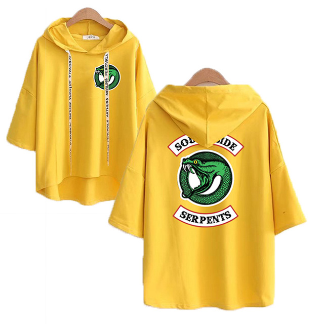 RIVERDALE SOUTHE SIDE SERPENTS SHORT SLEEVE HOODIE (15 VARIAN)
