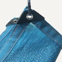Синий цвет сетки HDPE гардон завод Солнцезащитный УФ-излучения защиты овощей ПЭТ автомобиль углы усилены тент сетка