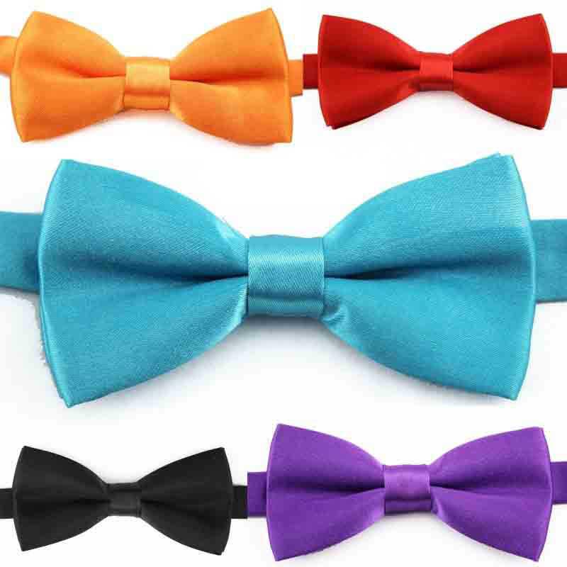 Anak-anak Klasik Dasi Kupu-kupu Anak Laki-laki Grils Bayi Anak Dasi Kupu-kupu Warna Solid Hijau Mint Merah/Hitam/Putih/Hijau Gravata