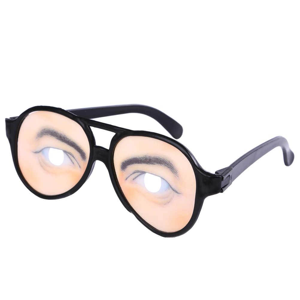 Pcs Óculos Portátli 1 Hilariante Disfarce Traje Do Partido Óculos Óculos De Sol Vidros Engraçados para o Dia Das Bruxas Páscoa Dia Dos Enganados
