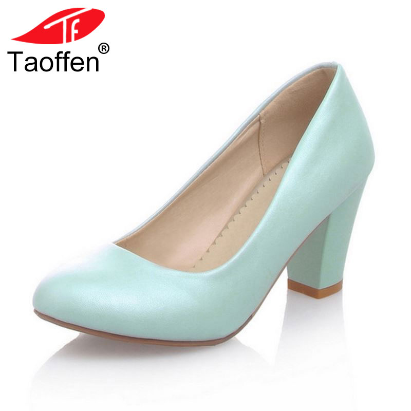 women casual square high heel shoes lady sweet lady spring quality footwear fashion heeled pumps heels shoes size 32-43 P17176 taoffen women stiletto high heel shoes pointed toe spring sweet footwear lady spring heeled pumps heels shoes size 34 47 p17515
