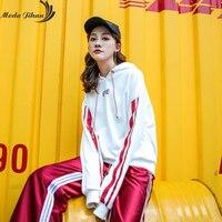 Moda Jihan Womens Hoodies Patchwork Sweatshirt Letter Harajuku Pullovers Women Hoodies Ulzzang Sweatshirt Female Sudadera Mujer