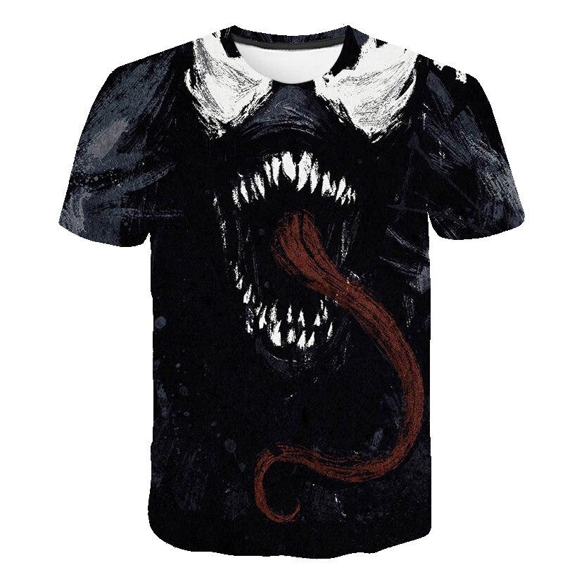 Новейшая футболка Веном с 3D принтом, футболка s для мужчин и женщин, Повседневная футболка с коротким рукавом для фитнеса, футболка Дэдпул, футболки с черепом, топы азиатского размера