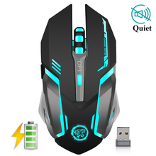 Купить с кэшбэком AZZOR Wireless Gaming Mouse 3200 DPI Rechargeable Adjustable 7 Color Backlight Breathing Gamer Mouse Game Mice for PC Laptop