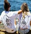 Verano camisetas divertidas mujeres harajuku diseñador mejores amigos t shirt nueva moda gracphic tees top ropa parejas Nora401383