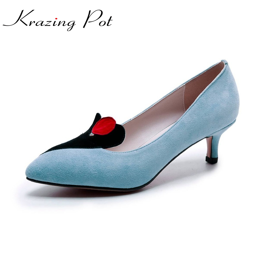 Krazing Pot fashion brand shallow party wedding strange style thin high heels women pumps mixed color office beauty shoes L7f4  krazing pot new fashion brand shoes square toe shallow women pumps metal strange high heels slip on causal office lady shoe 02