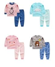 Crianças outono inverno conjuntos de roupas íntimas infantis da menina ternos de algodão do bebê dos desenhos animados ceroulas de manga comprida roupas para meninos