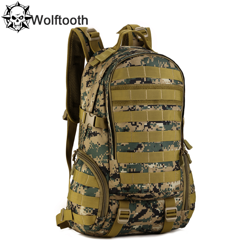 Camping Bags,Waterproof Molle Backpack Military 3P Gym School Trekking Ripstop Woodland Tactical Equipment Men 35L - Protector Plus Gear Store store